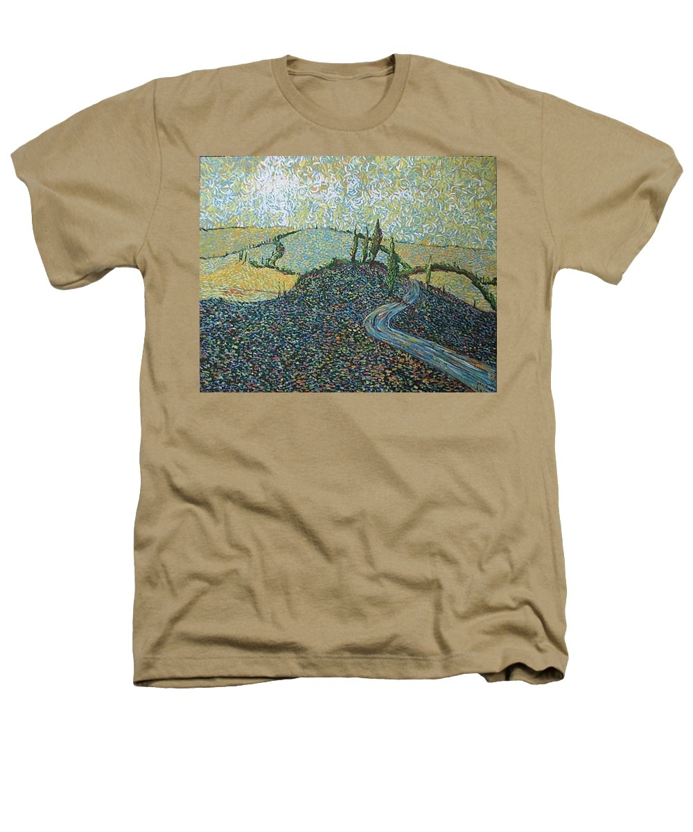 Landscape Heathers T-Shirt featuring the painting Road To Tuscany by Stefan Duncan