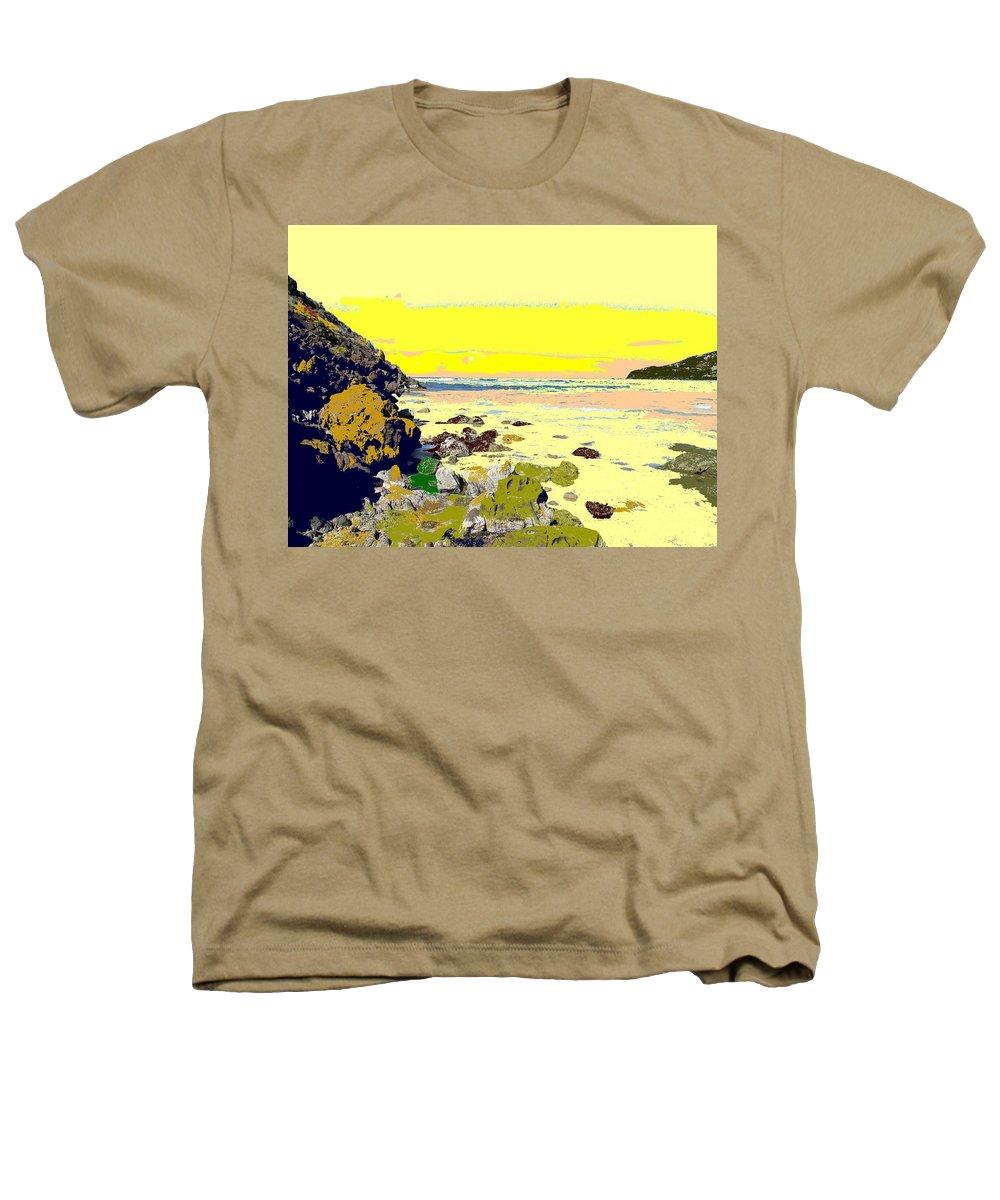 Beach Heathers T-Shirt featuring the photograph Rocky Beach by Ian MacDonald