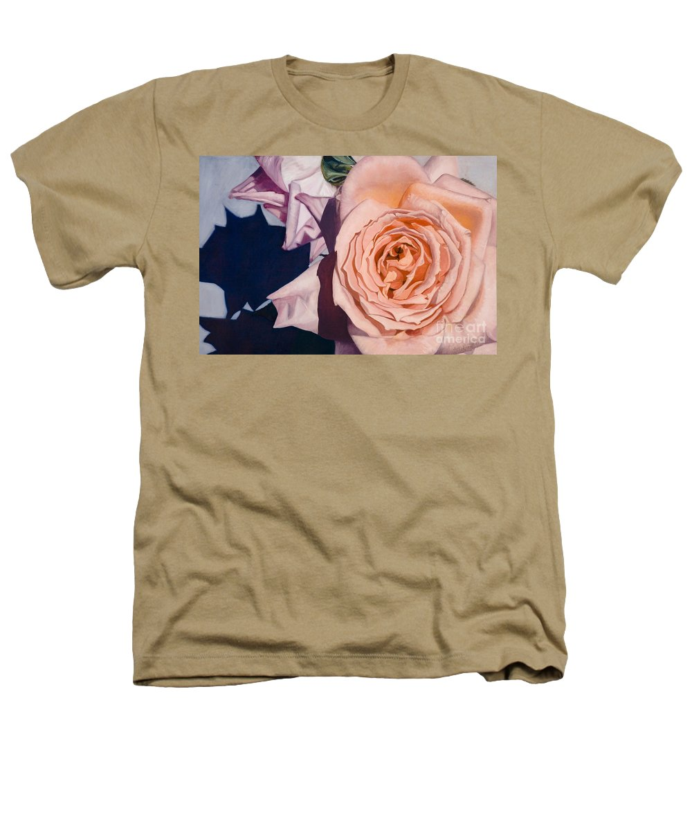 Roses Heathers T-Shirt featuring the painting Rose Splendour by Kerryn Madsen-Pietsch