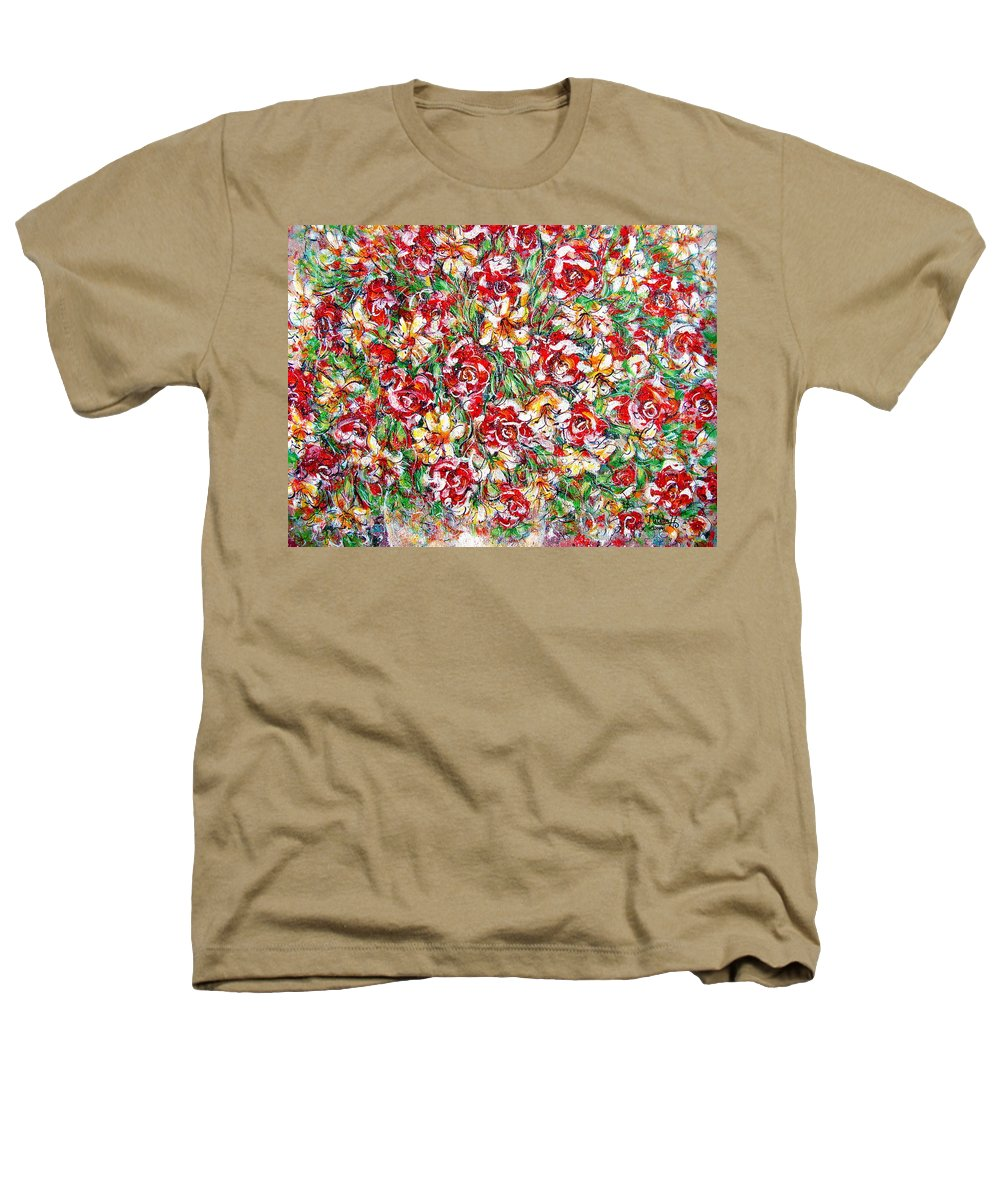 Red Roses Heathers T-Shirt featuring the painting Roses For You by Natalie Holland