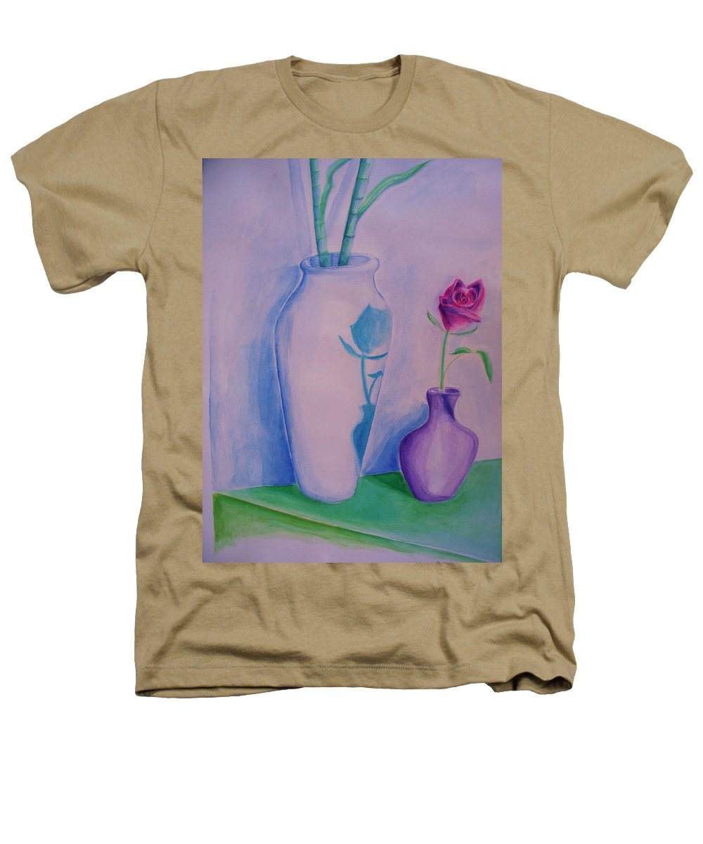 Red Rose Heathers T-Shirt featuring the painting Roses In Vase by Eric Schiabor