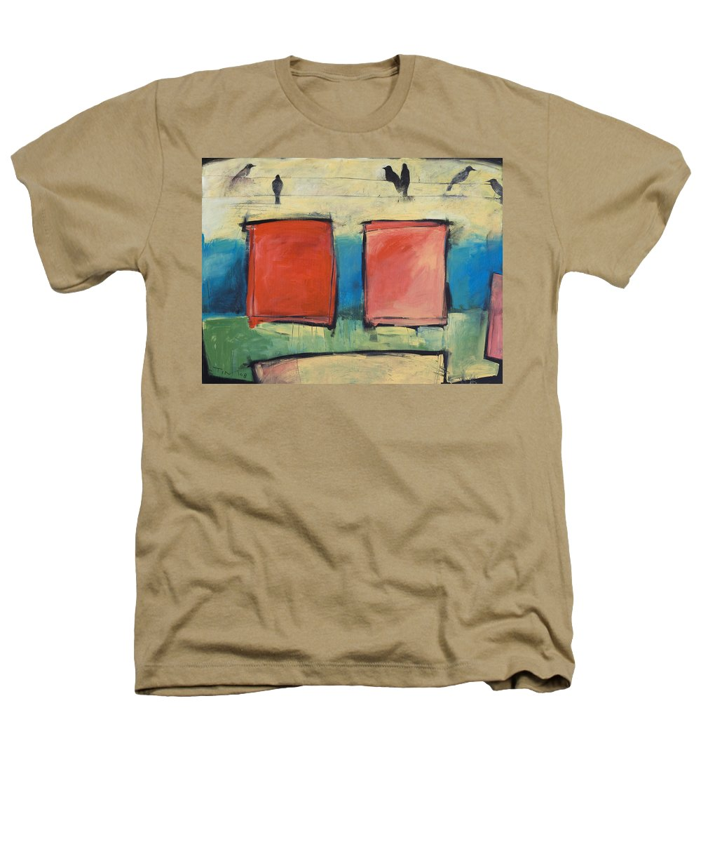 Rothko Heathers T-Shirt featuring the painting Rothko Meets Hitchcock by Tim Nyberg
