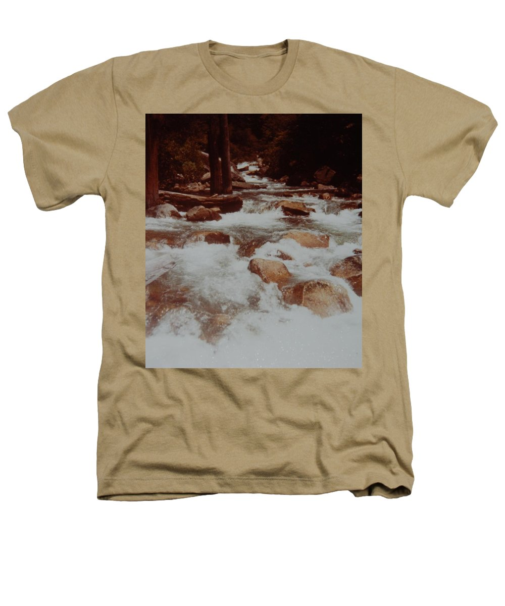 Water Heathers T-Shirt featuring the photograph Rushing Water by Rob Hans