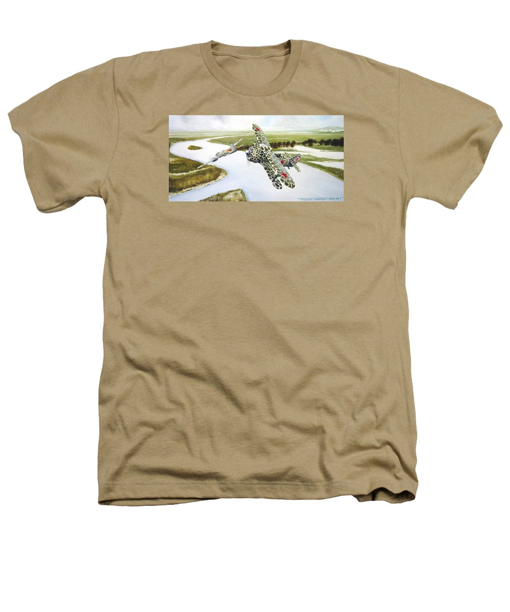 Aviation Heathers T-Shirt featuring the painting Russian Roulette by Marc Stewart