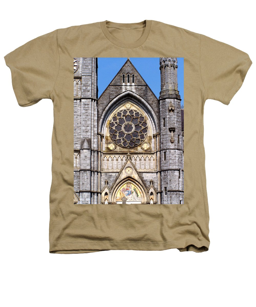 Ireland Heathers T-Shirt featuring the photograph Sacred Heart Church Detail Roscommon Ireland by Teresa Mucha