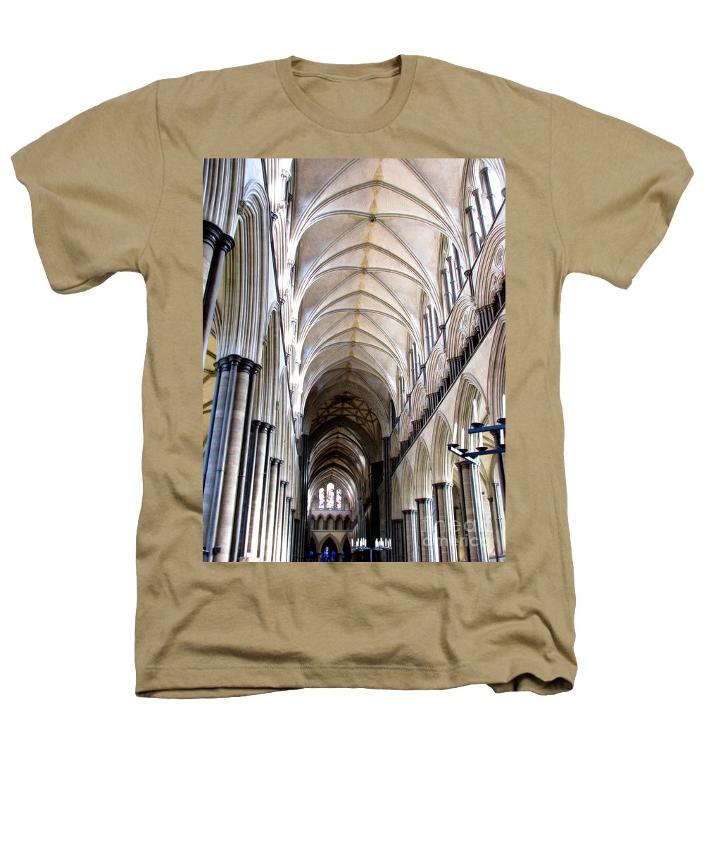 Salisbury Heathers T-Shirt featuring the photograph Salisbury Cathedral by Amanda Barcon
