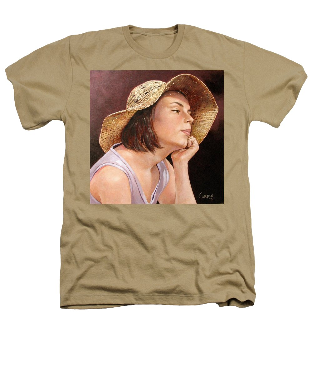 Portrait Heathers T-Shirt featuring the painting Sammie by Jerrold Carton