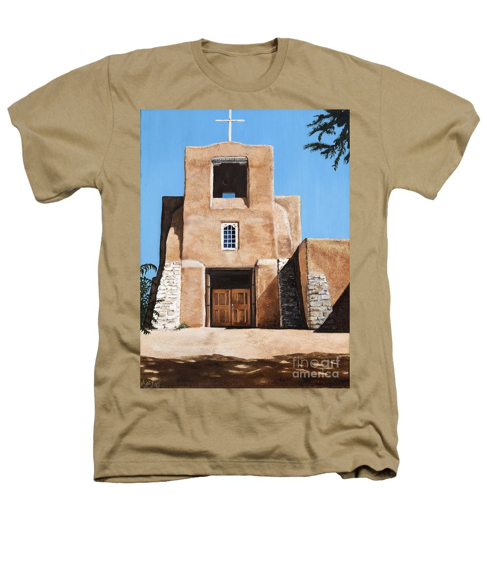 Art Heathers T-Shirt featuring the painting San Miguel by Mary Rogers