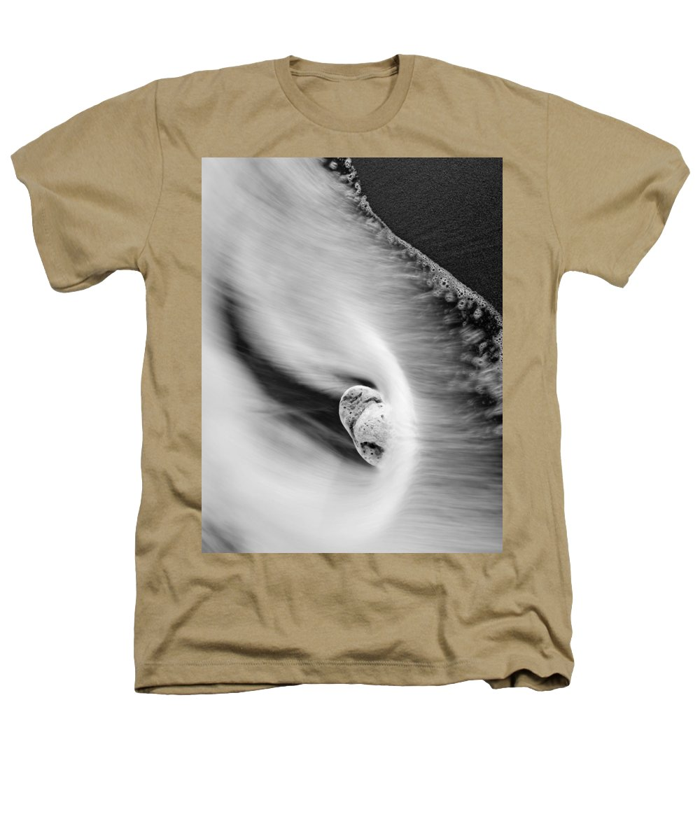 Rock Heathers T-Shirt featuring the photograph Sand And Sea by Mike Dawson