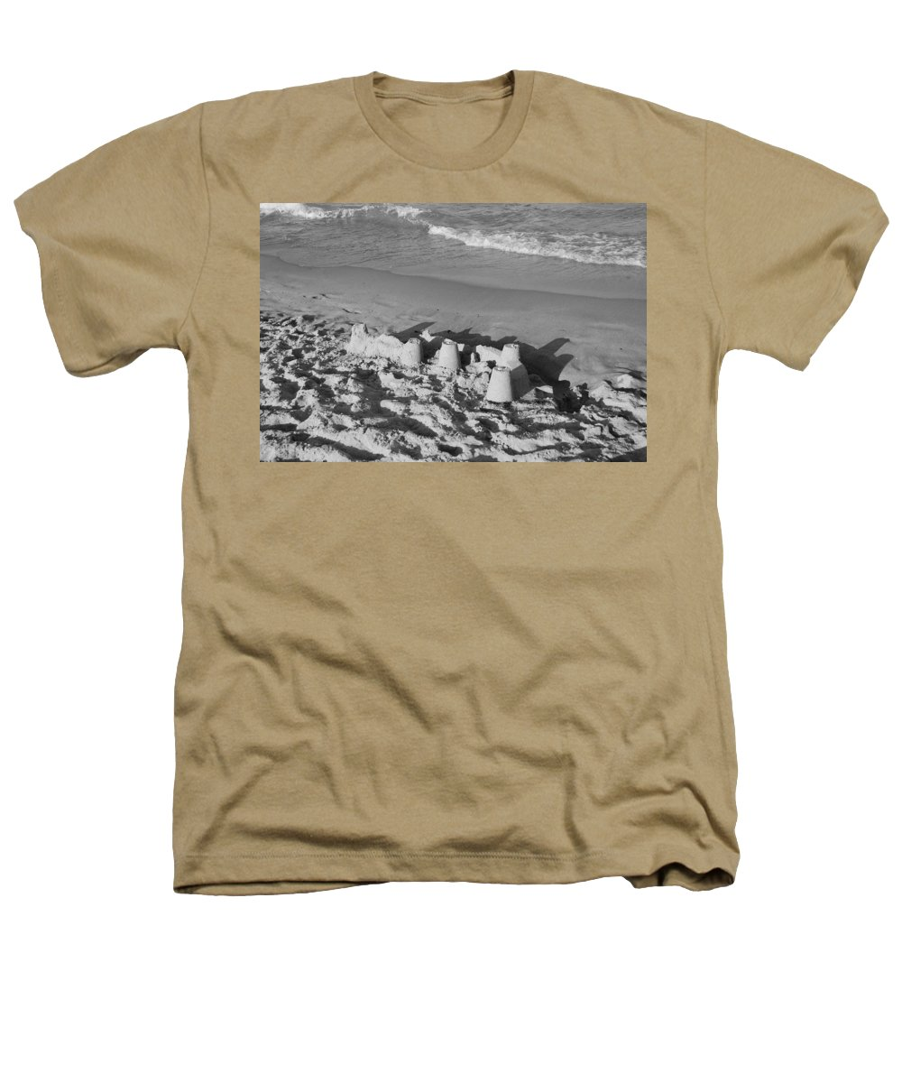 Sea Scape Heathers T-Shirt featuring the photograph Sand Castles By The Shore by Rob Hans