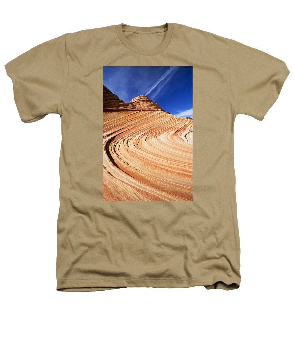 The Wave Heathers T-Shirt featuring the photograph Sandstone Slide by Mike Dawson