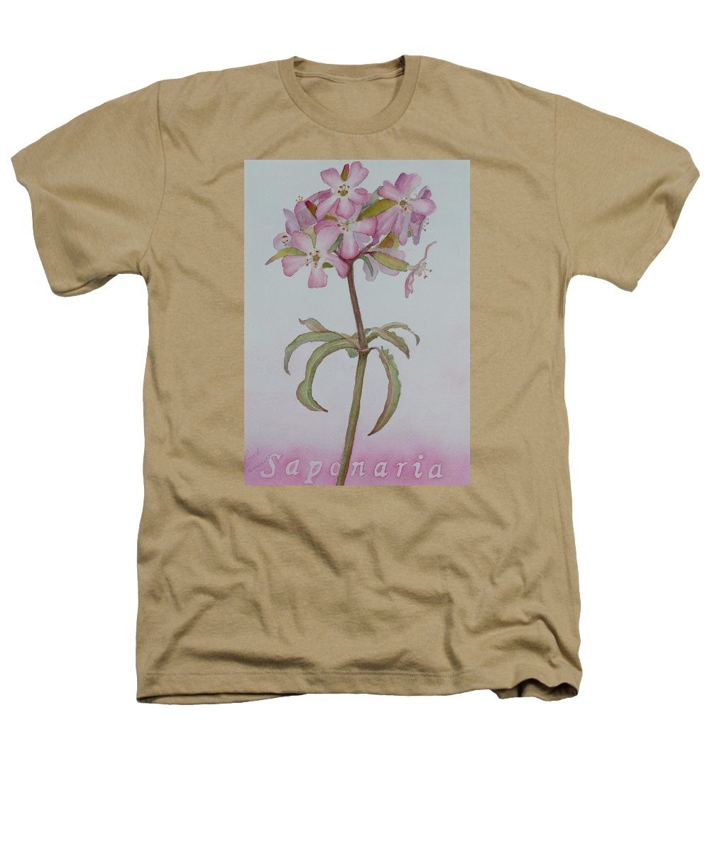 Flower Heathers T-Shirt featuring the painting Saponaria by Ruth Kamenev