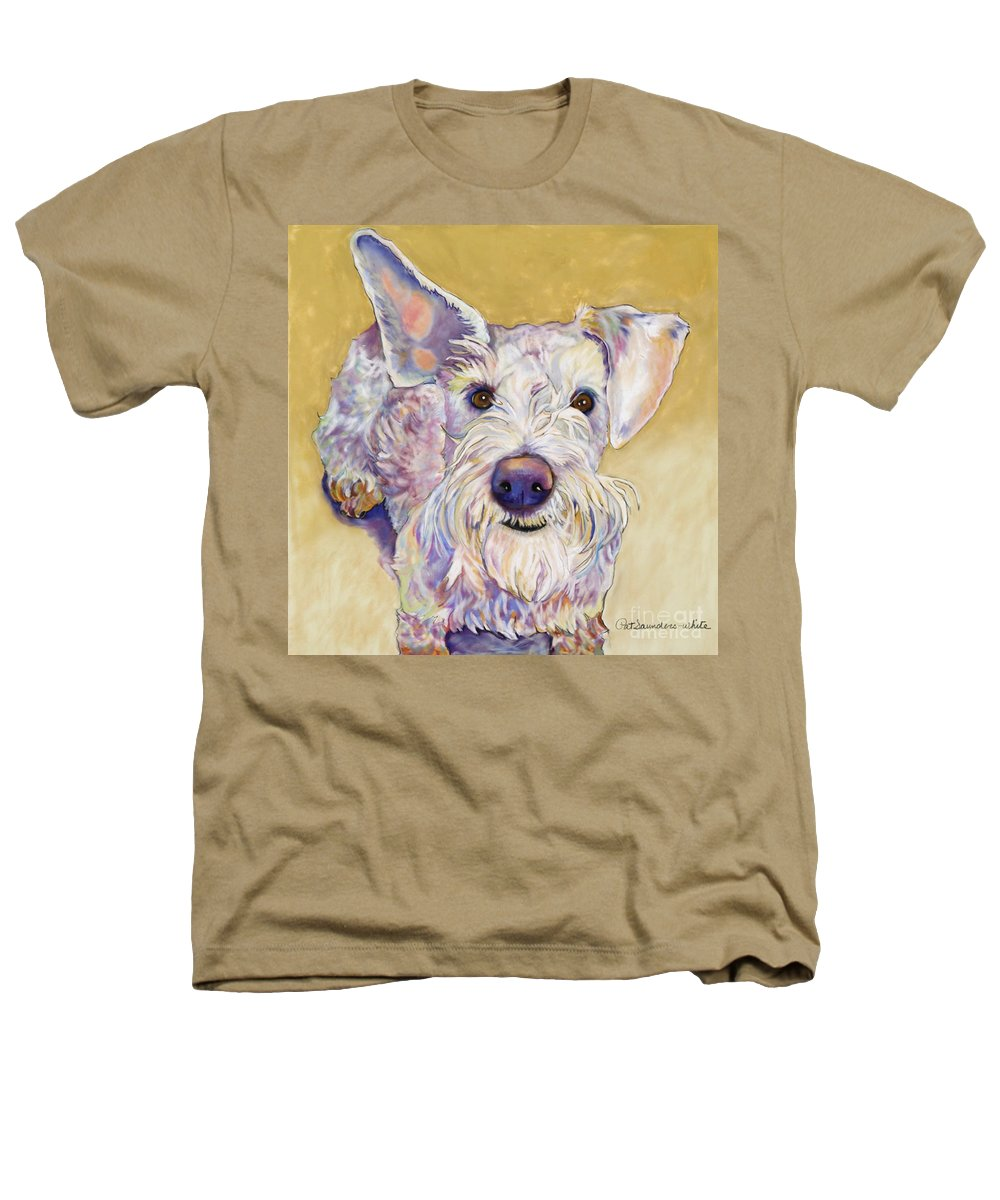Schnauzer Heathers T-Shirt featuring the pastel Scooter by Pat Saunders-White