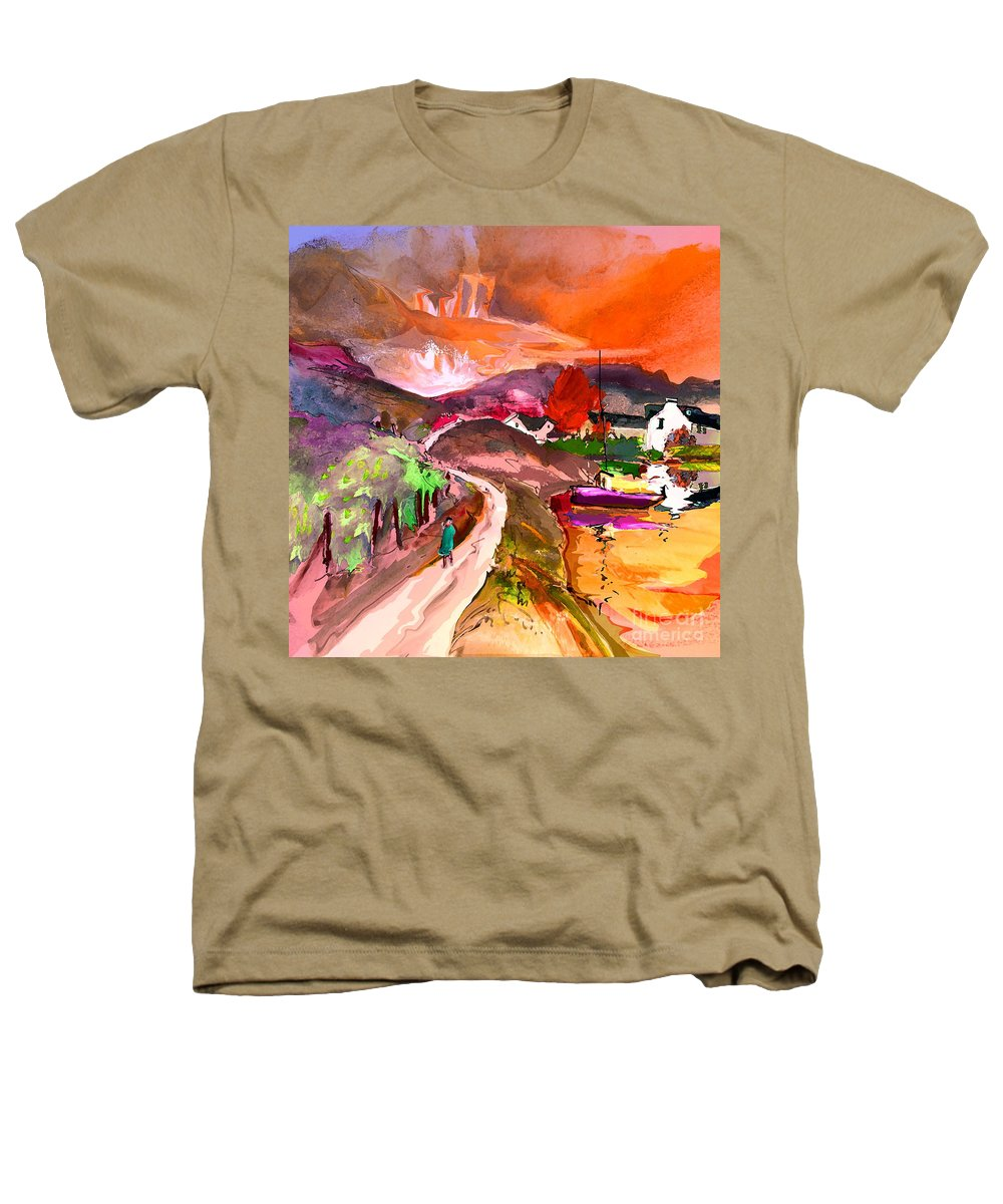 Scotland Paintings Heathers T-Shirt featuring the painting Scotland 02 by Miki De Goodaboom