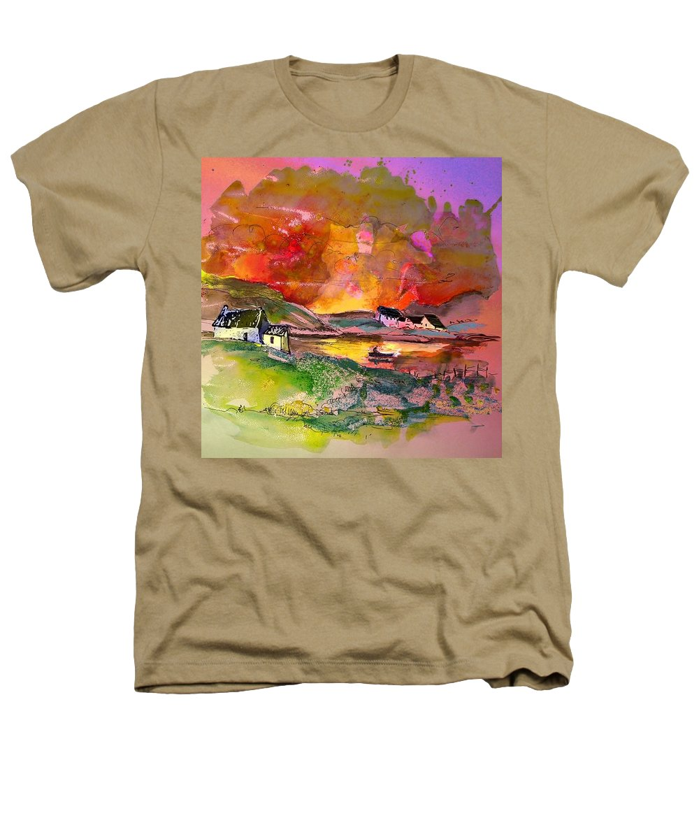 Scotland Paintings Heathers T-Shirt featuring the painting Scotland 07 by Miki De Goodaboom