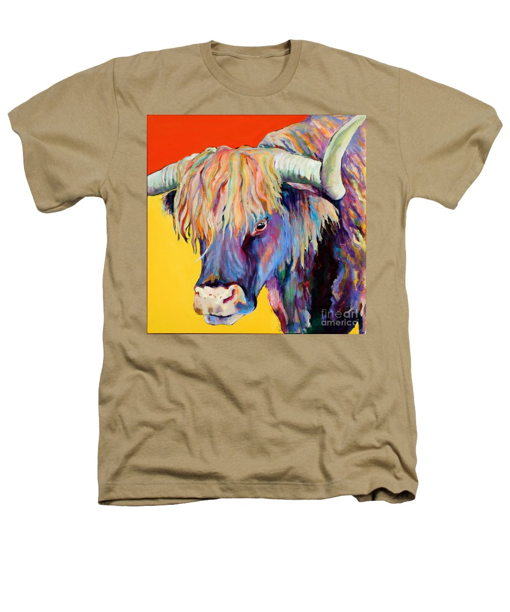 Farm Animal Heathers T-Shirt featuring the painting Scotty by Pat Saunders-White