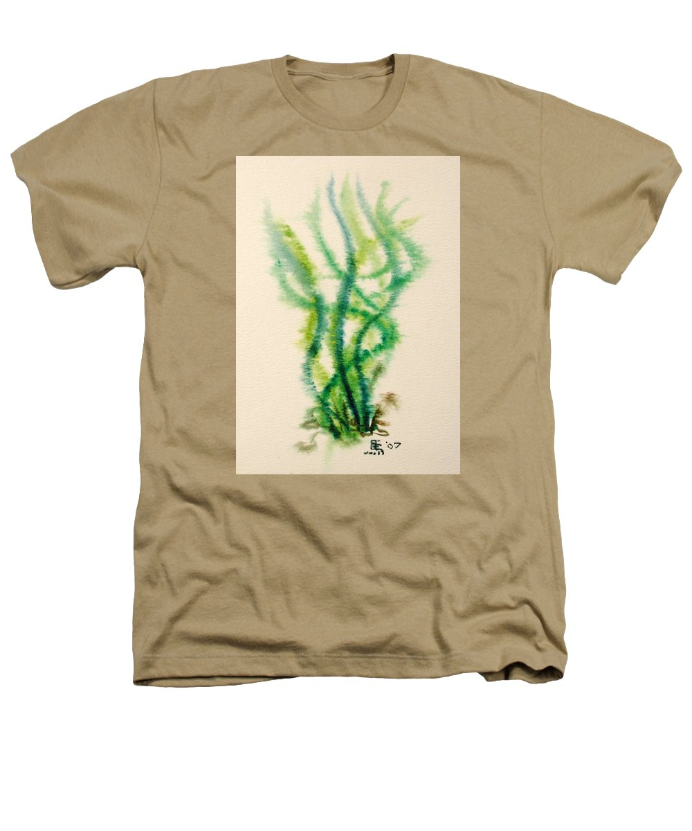 Sea Heathers T-Shirt featuring the painting Sea Bed One by Dave Martsolf
