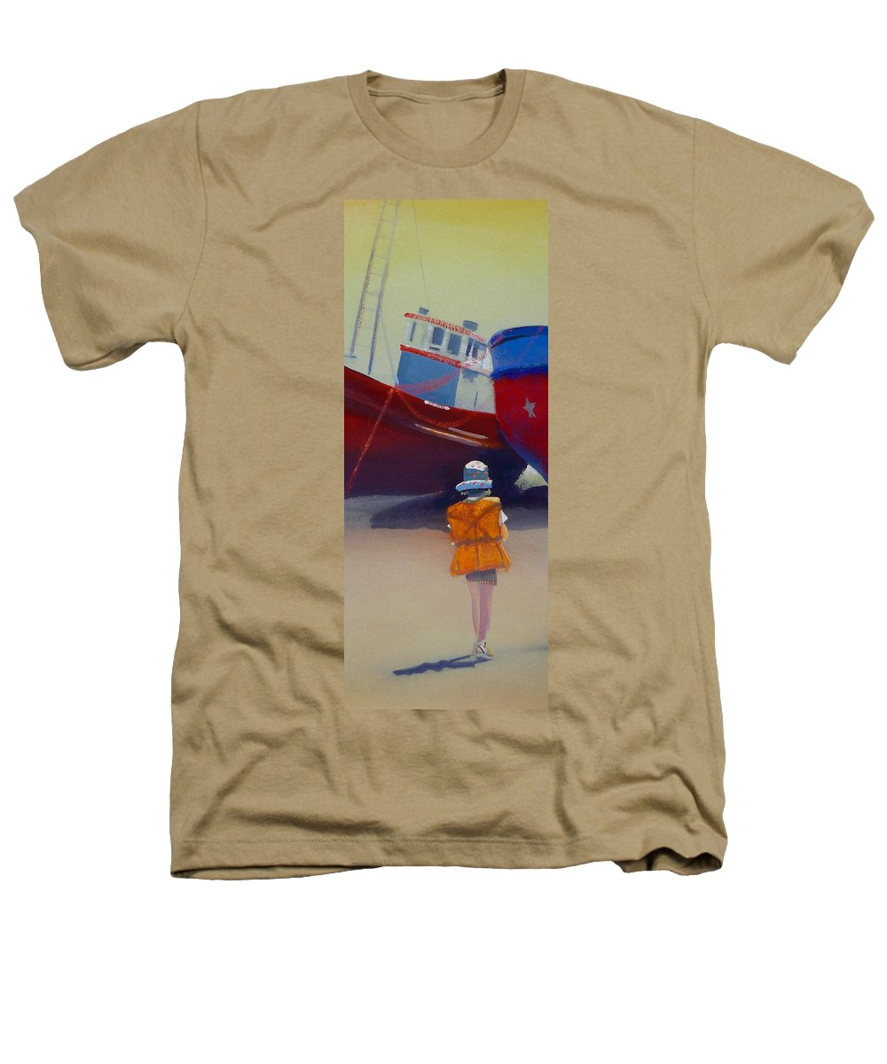 Dreamscape Heathers T-Shirt featuring the painting Sea Dreamer by Charles Stuart