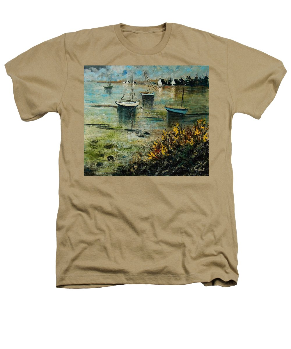 Seascape Heathers T-Shirt featuring the print Seascape 78 by Pol Ledent