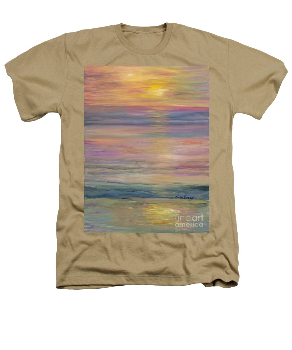 Sea Heathers T-Shirt featuring the painting Seascape by Nadine Rippelmeyer