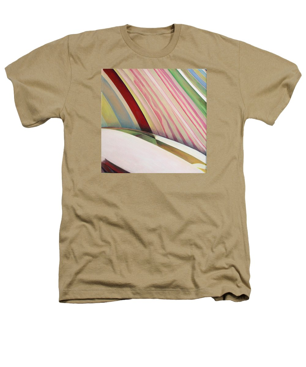 Abstract Heathers T-Shirt featuring the painting Sens 1 by Muriel Dolemieux
