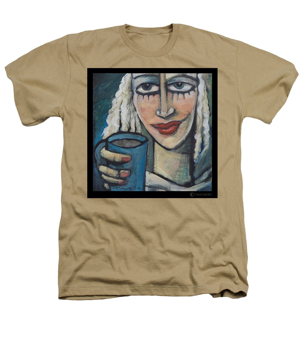 Pleasant Heathers T-Shirt featuring the painting She Had Some Dreams... by Tim Nyberg