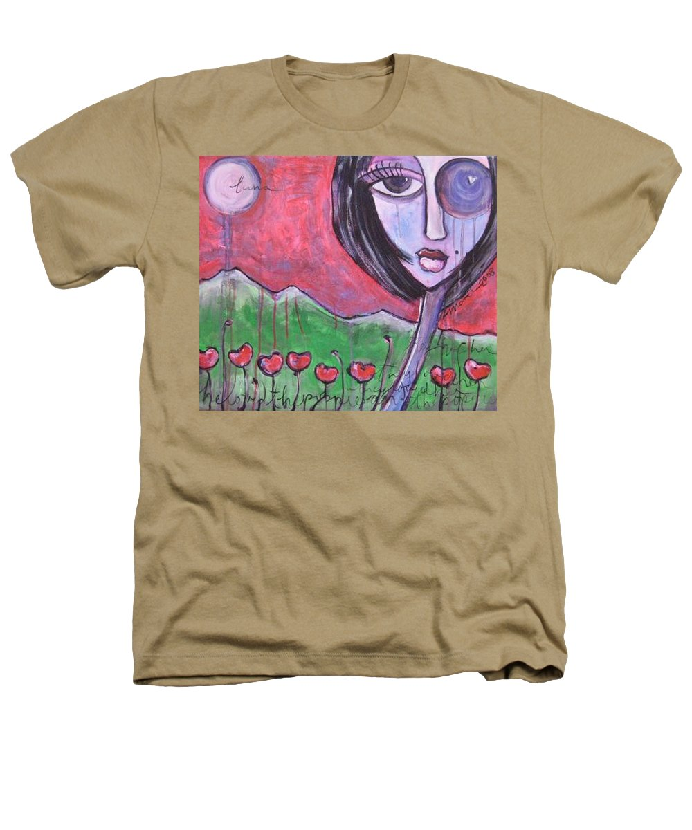 Poppies Heathers T-Shirt featuring the painting She Loved The Poppies by Laurie Maves ART