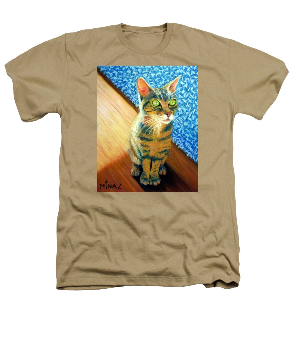 Cat Heathers T-Shirt featuring the painting She Wants To Be Famous by Minaz Jantz