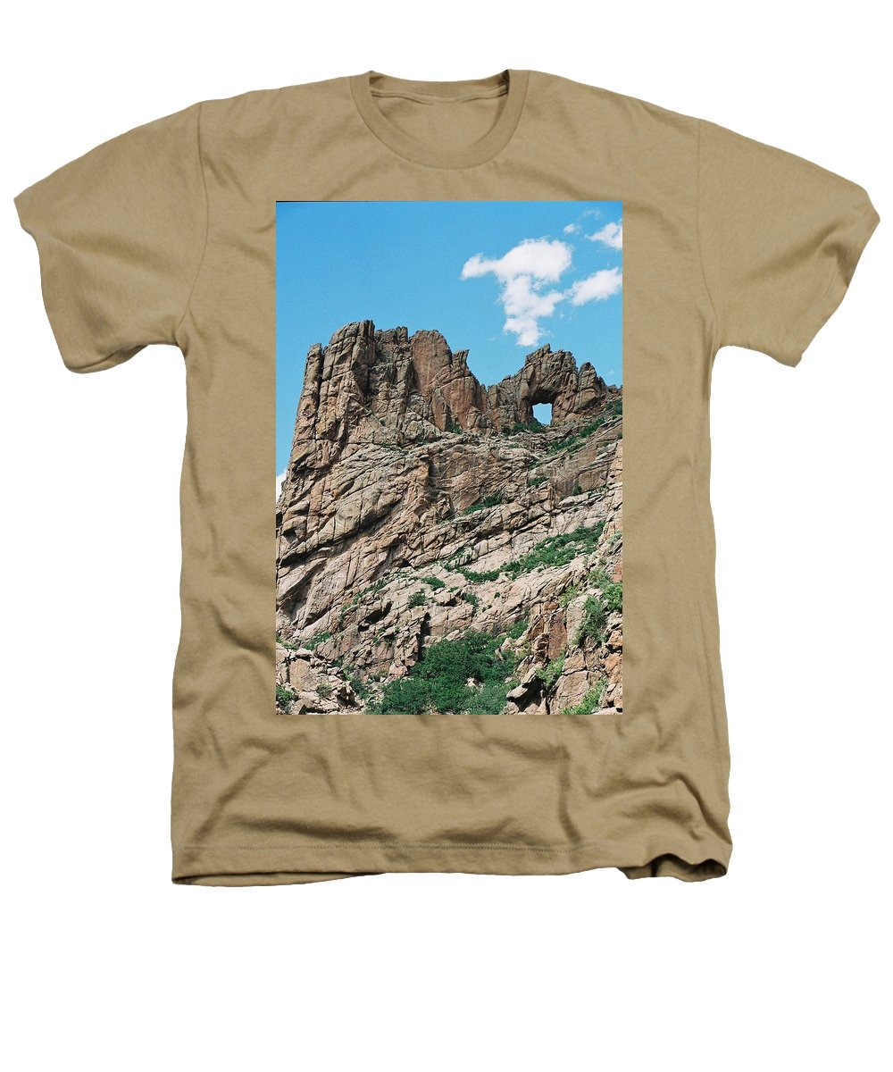 Shelf Road Heathers T-Shirt featuring the photograph Shelf Road Rock Formations by Anita Burgermeister