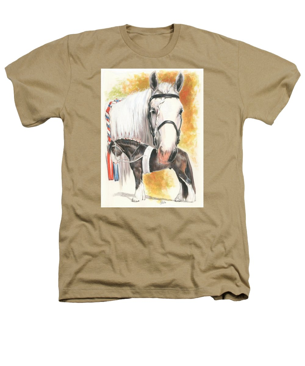 Shire Heathers T-Shirt featuring the mixed media Shire by Barbara Keith