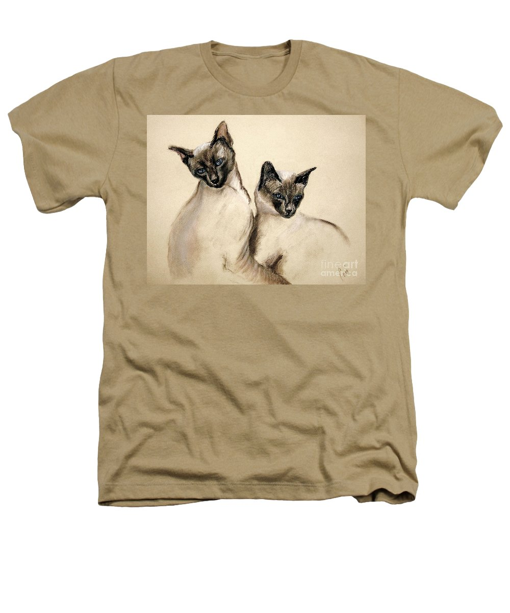 Cat Heathers T-Shirt featuring the drawing Sibling Love by Cori Solomon