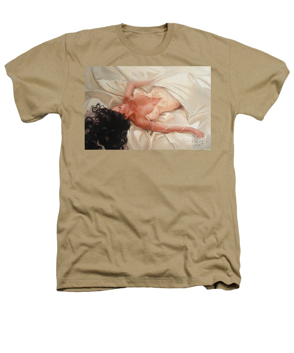 Art Heathers T-Shirt featuring the painting Silk And Thrill by Sergey Ignatenko