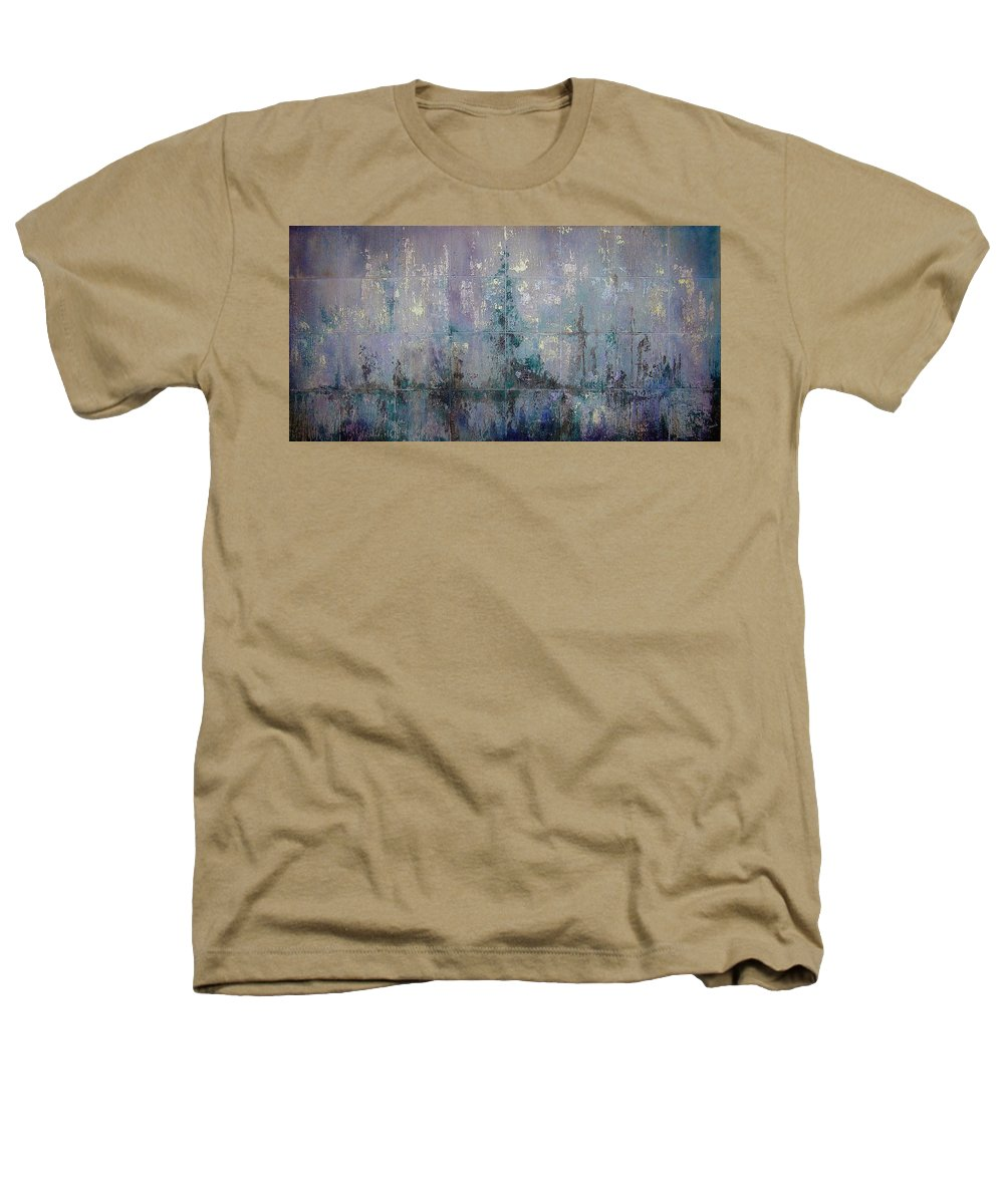 Abstract Heathers T-Shirt featuring the painting Silver And Silent by Shadia Derbyshire