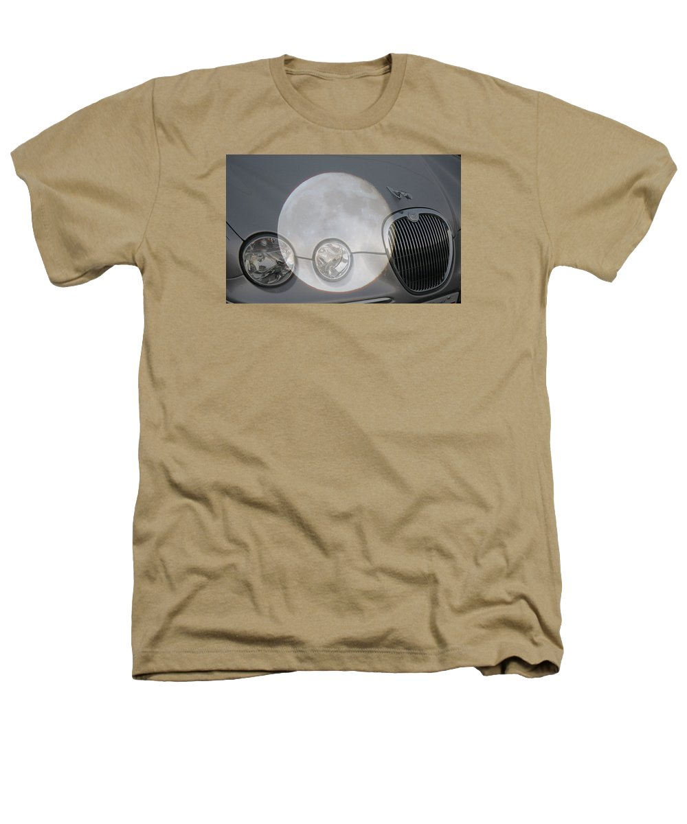 Car Heathers T-Shirt featuring the photograph Silver Moon Jaguar by J R  Seymour