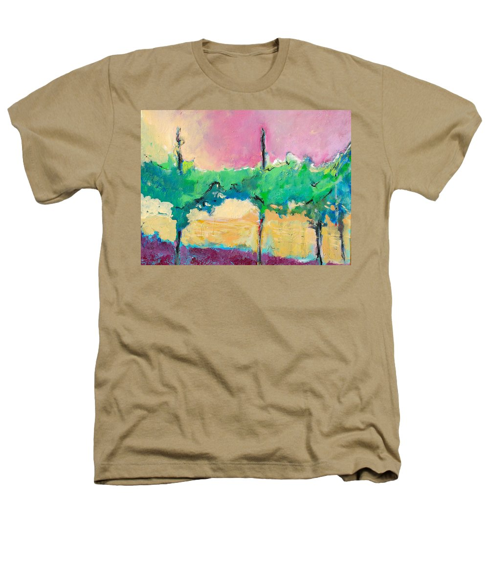 Vineyard Heathers T-Shirt featuring the painting Simpatico by Kurt Hausmann