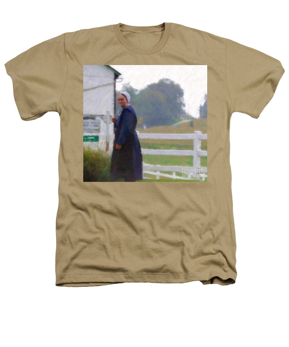 Amish Heathers T-Shirt featuring the photograph Simple Living by Debbi Granruth