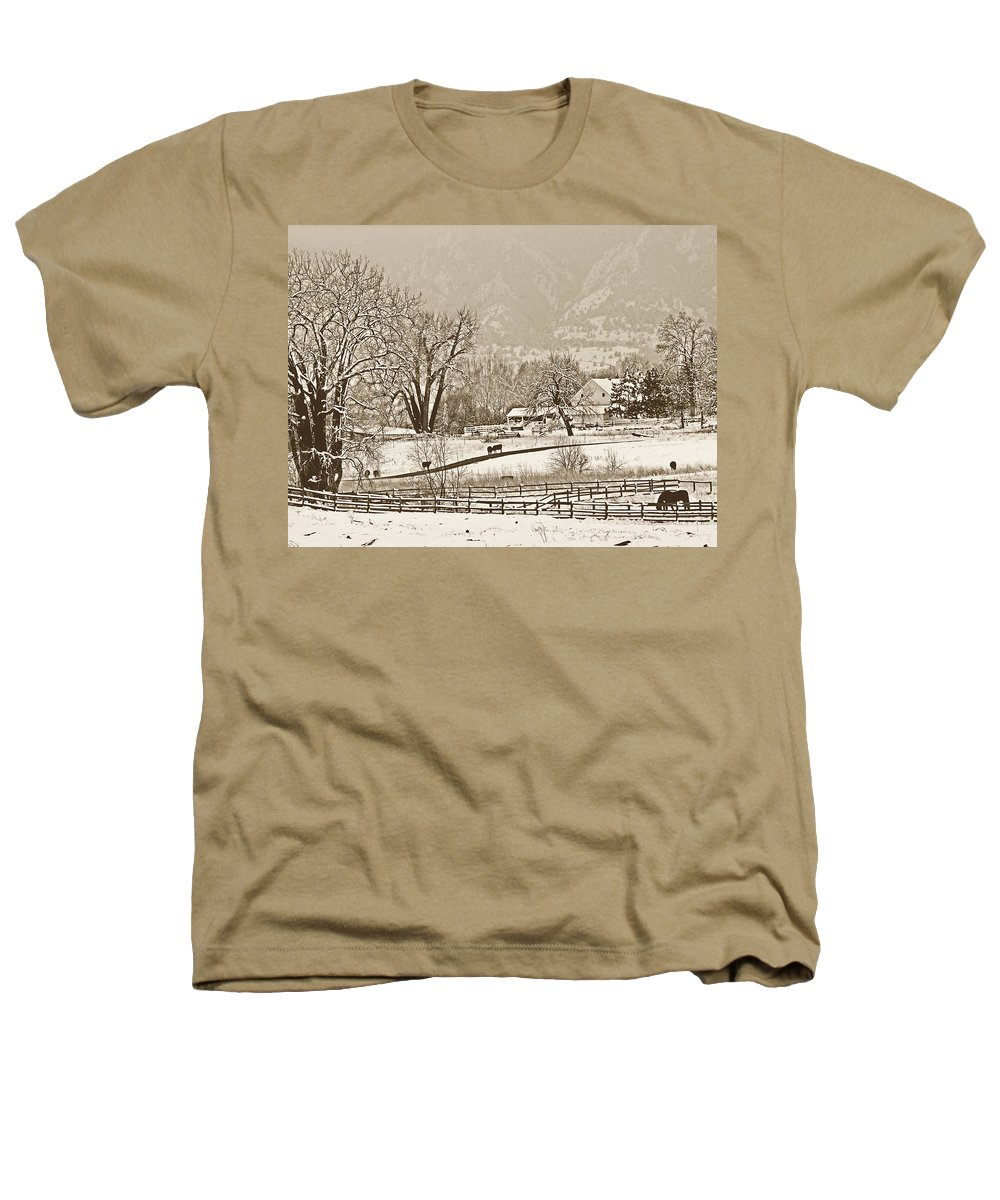 Landscape Heathers T-Shirt featuring the photograph Simpler Times by Marilyn Hunt