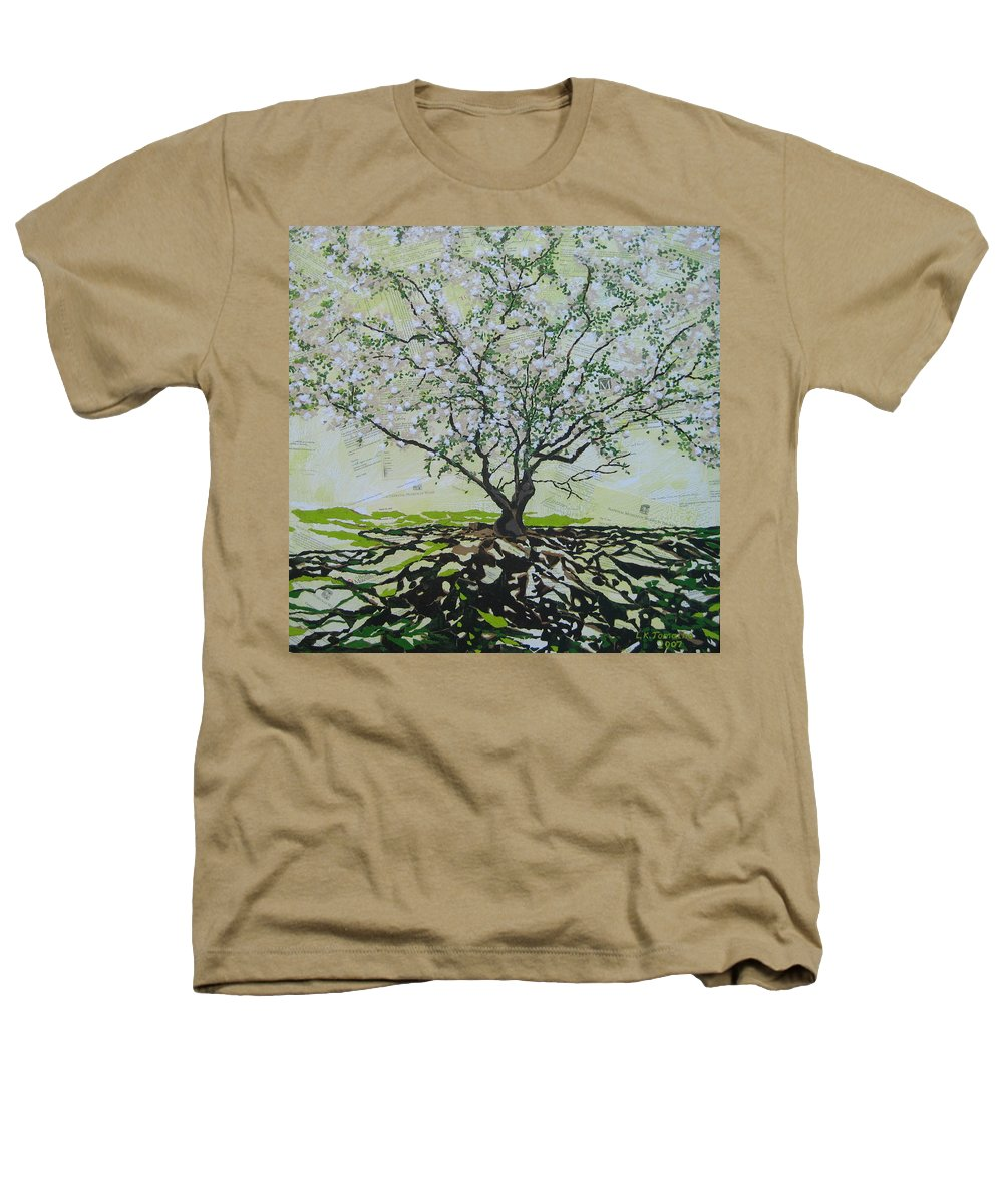 Apple Tree Heathers T-Shirt featuring the painting Sincerely-the Curator by Leah Tomaino