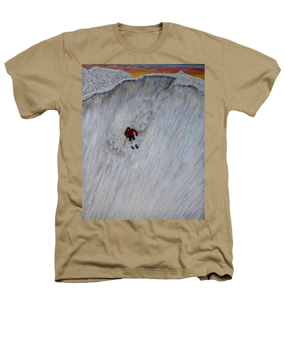 Landscape Heathers T-Shirt featuring the painting Skitilthend by Michael Cuozzo
