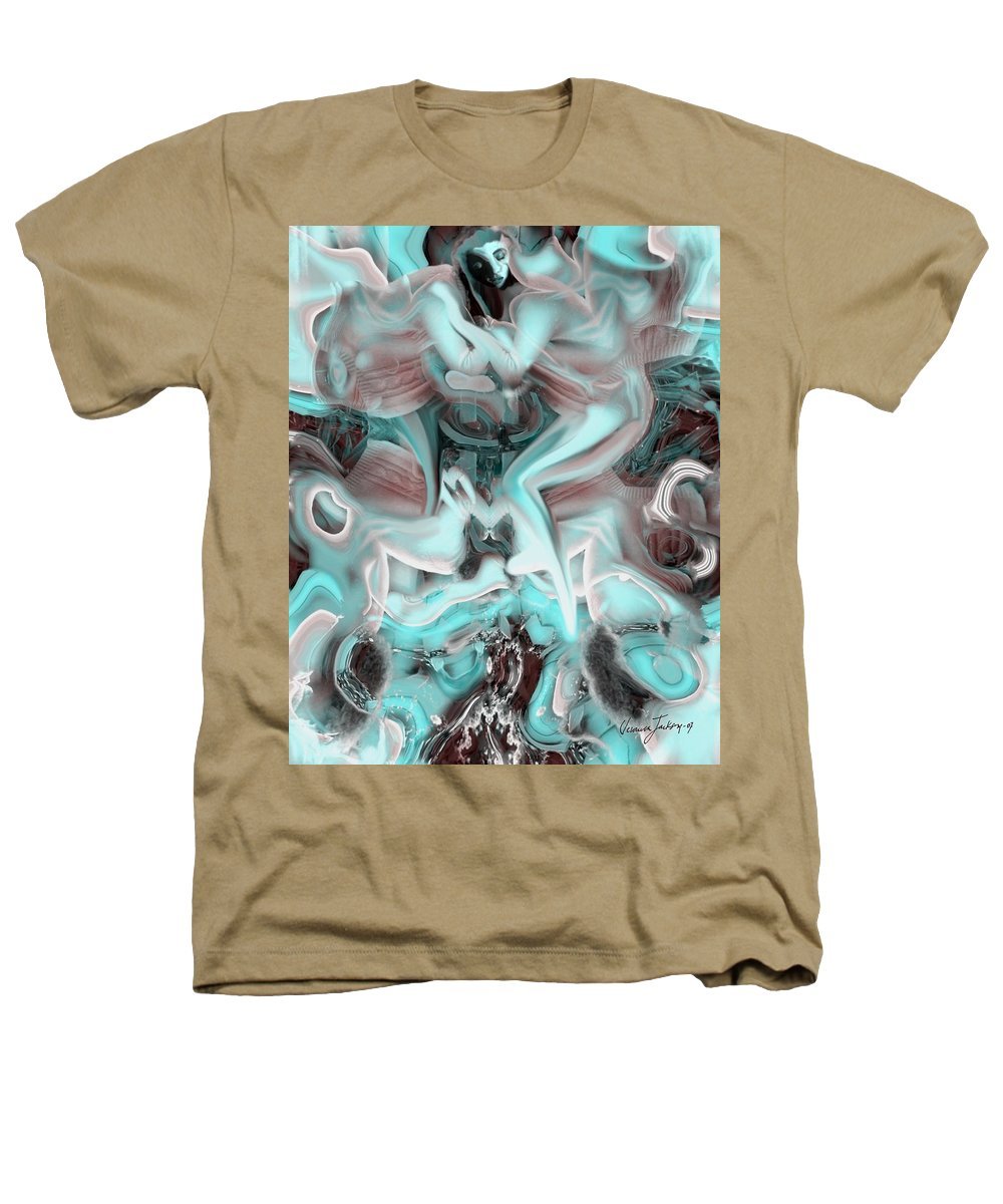 Space Sllep Blue Float Navigate Alien Heathers T-Shirt featuring the digital art Sleeping In My Space Ship by Veronica Jackson