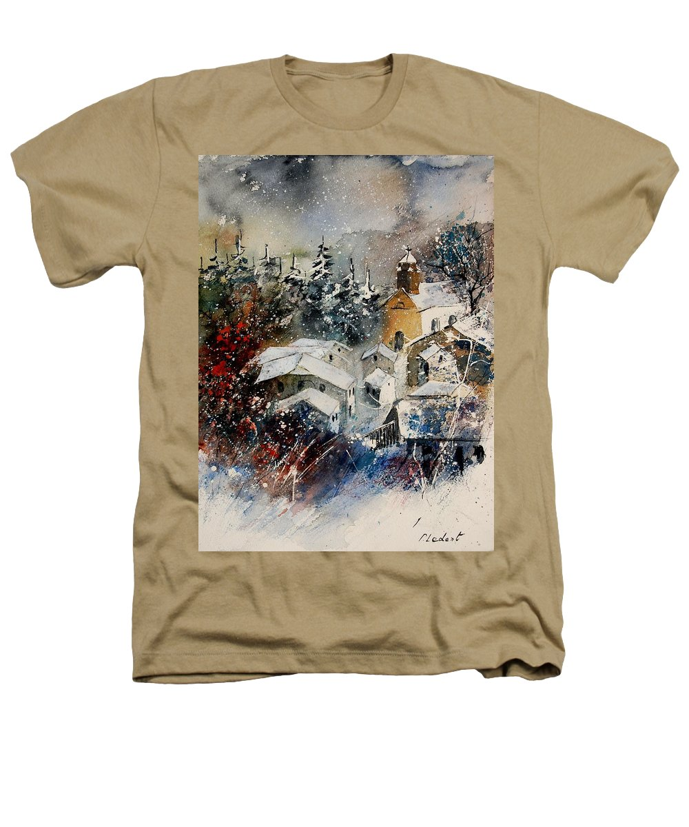 Landscape Heathers T-Shirt featuring the painting Snon In Frahan by Pol Ledent