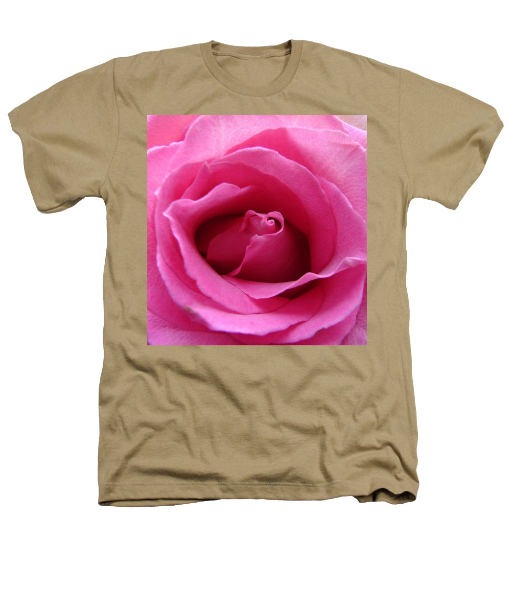 Rose Pink Pedals Heathers T-Shirt featuring the photograph Soft And Pink by Luciana Seymour
