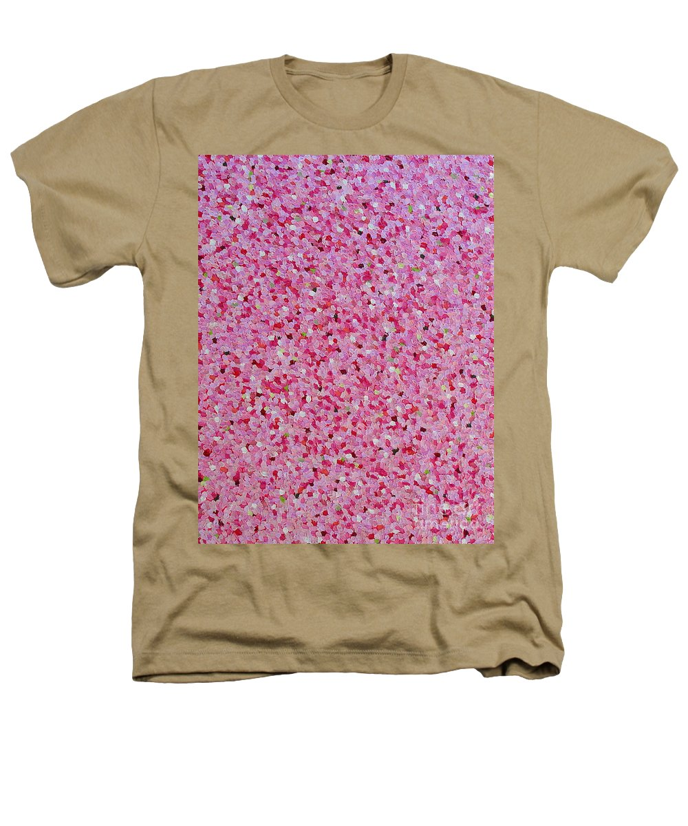 Abstract Heathers T-Shirt featuring the painting Soft Red Light by Dean Triolo