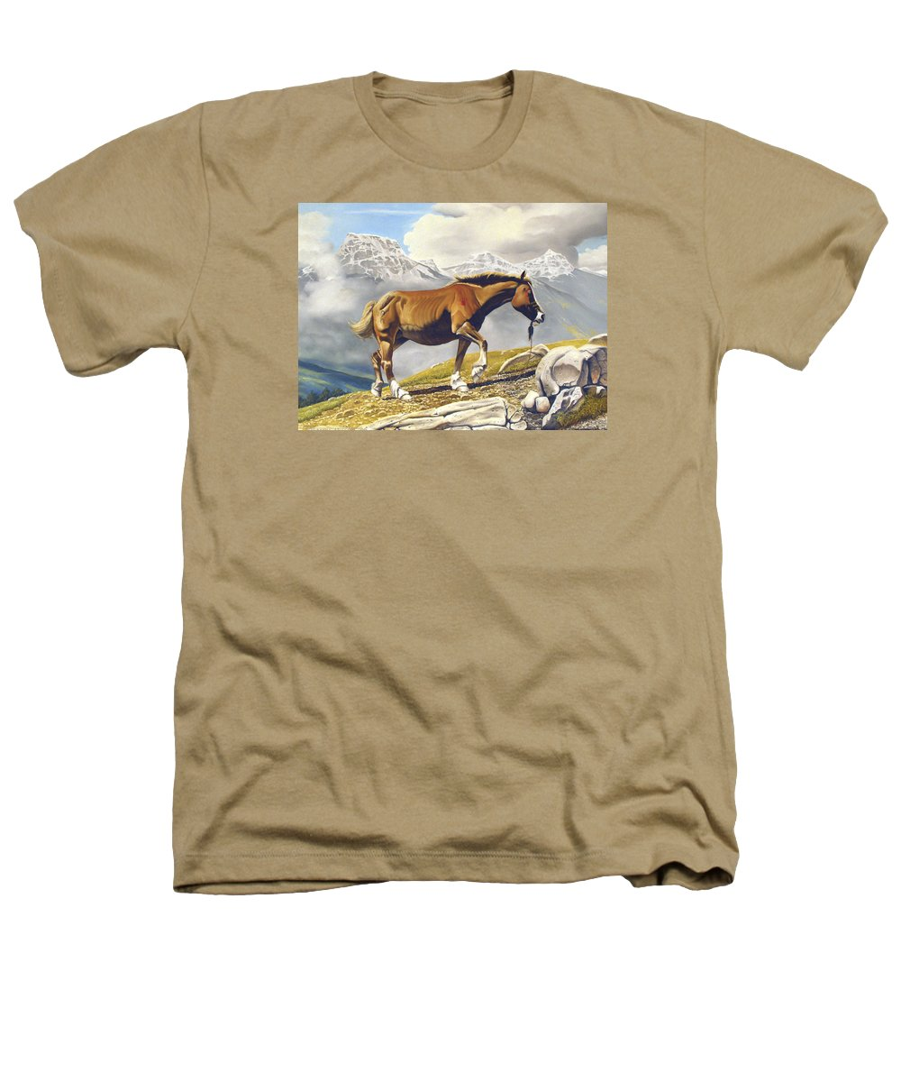 Horse Heathers T-Shirt featuring the painting Sole Survivor by Marc Stewart
