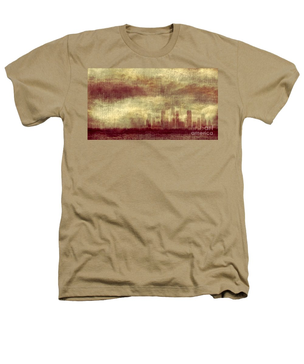 Clouds Heathers T-Shirt featuring the photograph Someone To Hold You Beneath Darkened Sky by Dana DiPasquale