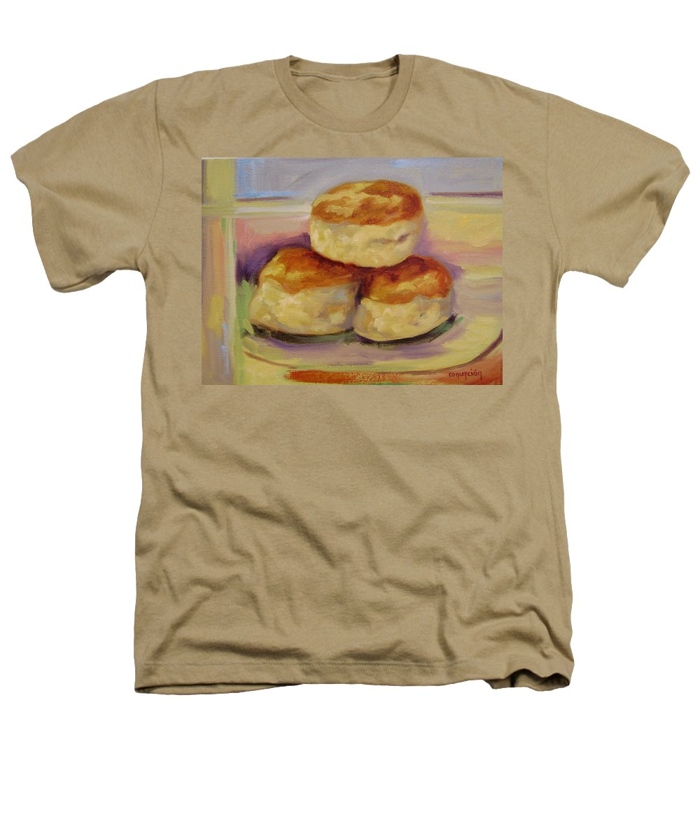 Biscuits Heathers T-Shirt featuring the painting Southern Morning Fare by Ginger Concepcion