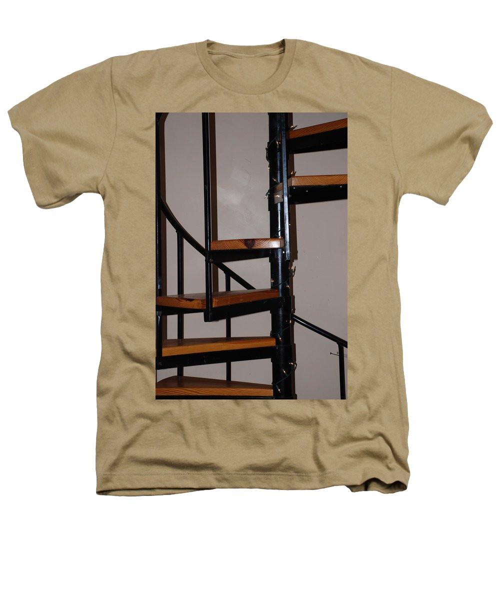 Stairs Heathers T-Shirt featuring the photograph Spiral Stairs by Rob Hans