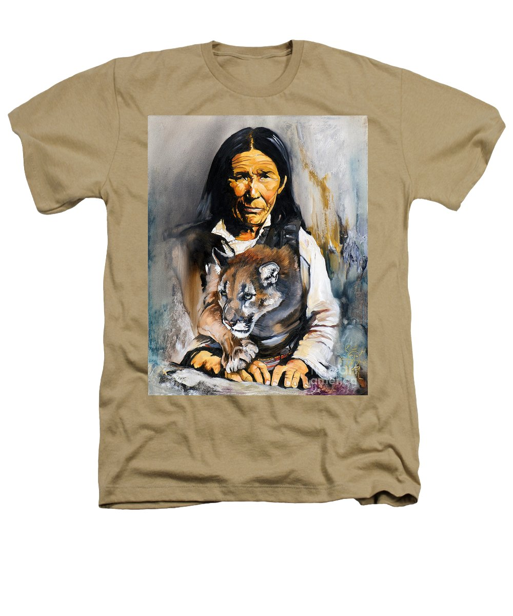 Spiritual Heathers T-Shirt featuring the painting Spirit Within by J W Baker