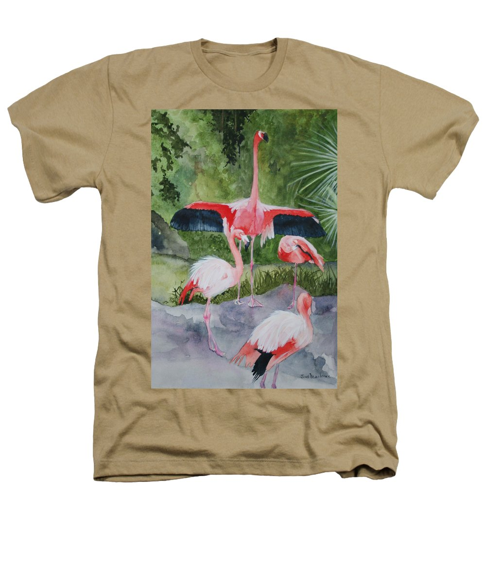 Wings Heathers T-Shirt featuring the painting Spreading My Wings by Jean Blackmer