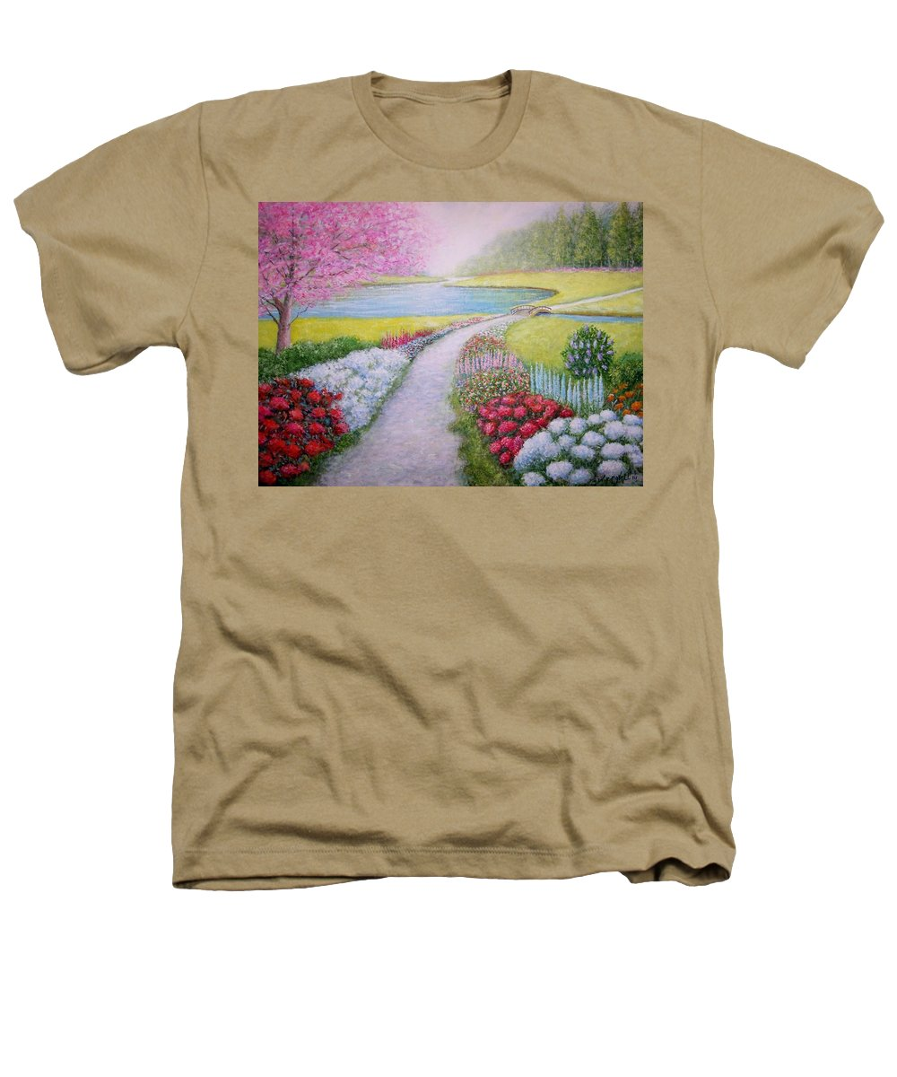 Landscape Heathers T-Shirt featuring the painting Spring by William H RaVell III